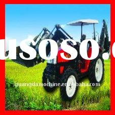 Low Price 80HP 4WD Agriculture Tractor with Front End Loader and Backhoe