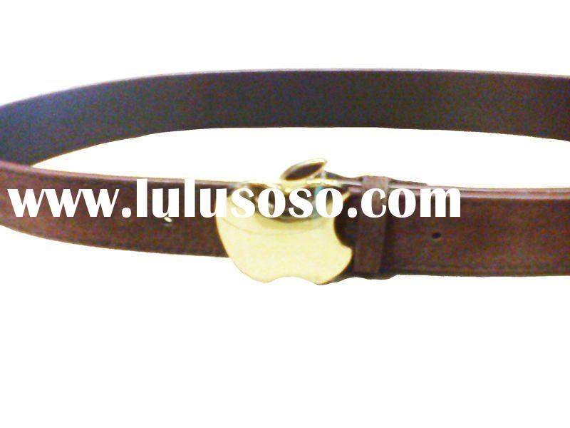 Brown Fake Suede leather leather with apple buckle