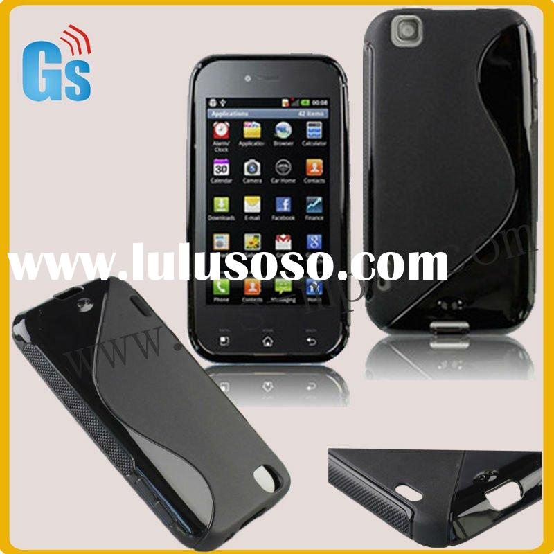 Slim tpu mobile phone case for LG Optimus Sol E730 black