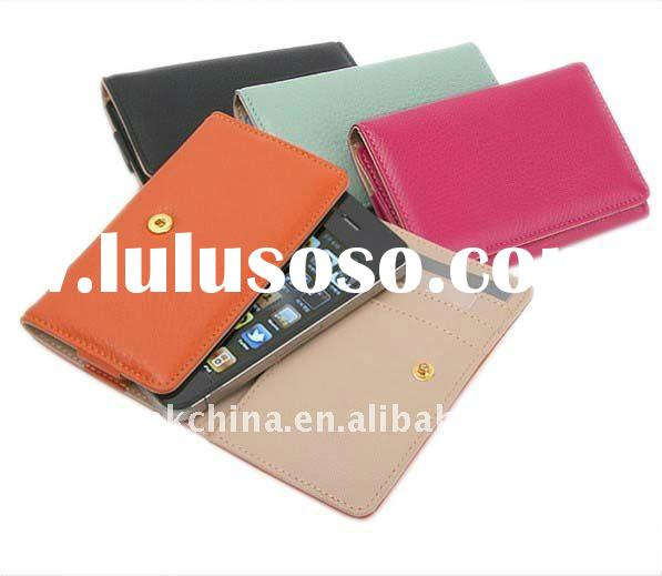 for Apple iphone 4 leather case