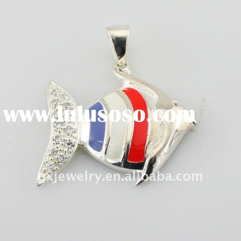 New arrival 2012 316l stainless steel pendant&silver pendant with cubic zirconia