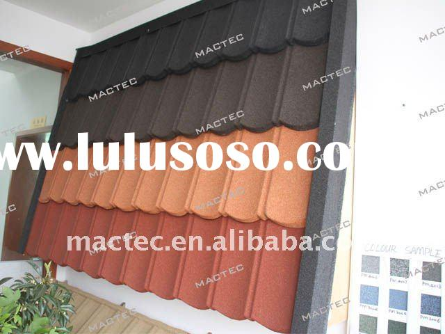 color stone coated roof tile