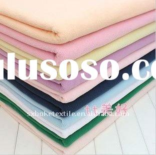 100% Polyester 150D/144F Solid Dyed Micro Polar Fleece Fabric for Garment or Home Textile