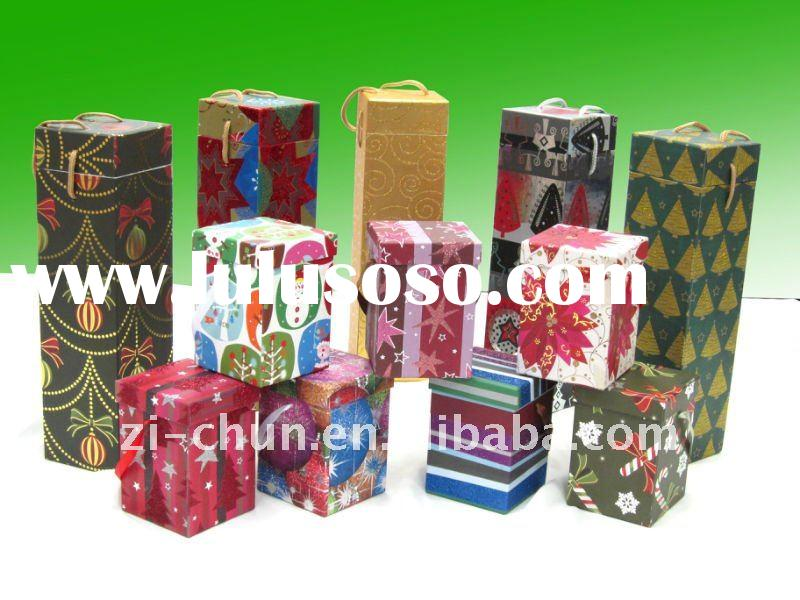 Colorful Cardboard Paper Gift Box and Wine Box