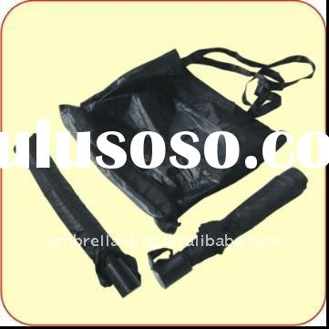 two folding umbrella with a shopping bag