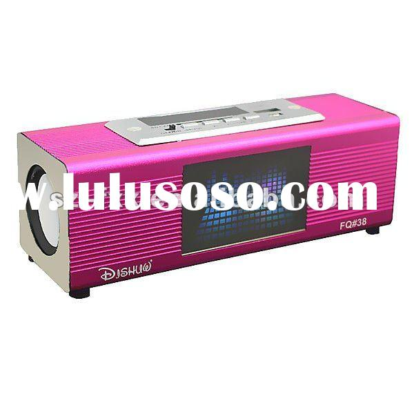 2011 Colorful flash fm card reader usb speaker