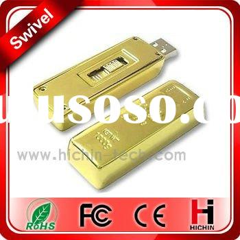 Golden usb flash drive with good quality