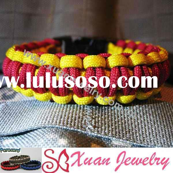 fashion jewelry hand made braided bracelets, paracord survival bracelet with plastic button