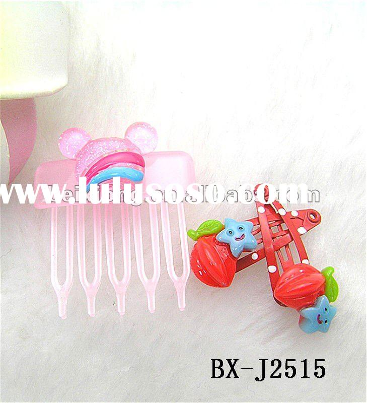 latest design wholesale hair accessories sets(hair clip&mini claw clip)