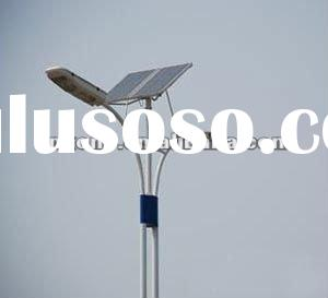 42w solar led street light with doule arm