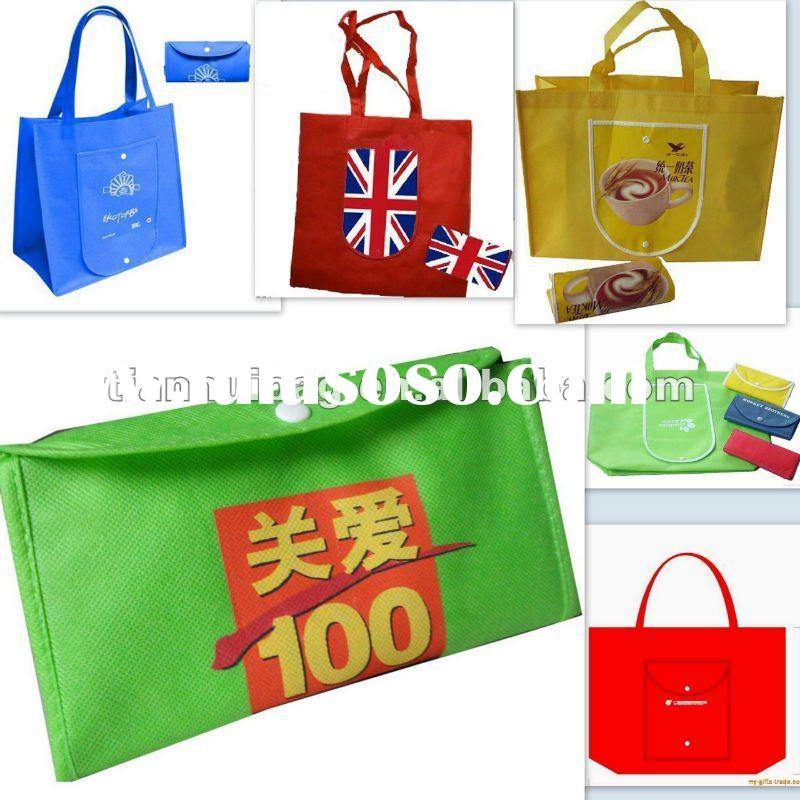 non woven foldable bag(for shopping,packing,promotional))