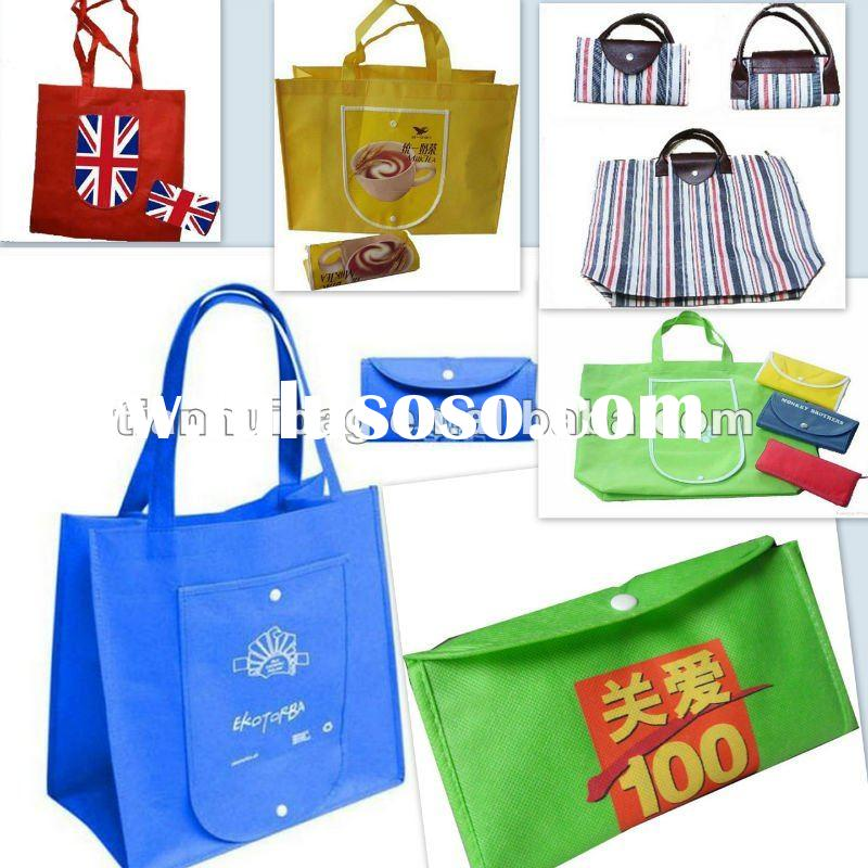 non woven folding bag(for shopping,packing,promotional))