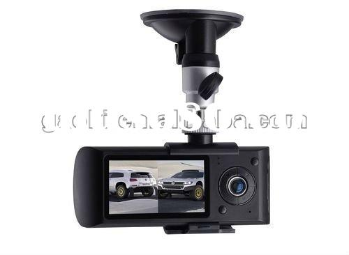 2012 GAOKI 2.7'' LCD GPS + G-sensor car black box dual camera