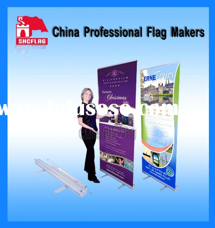Advertising banner stand roll up displays