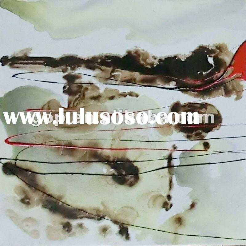 Handmade contemporary abstract painting with heavy paint