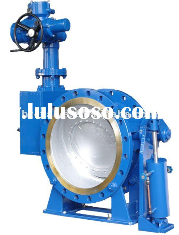 multi-function butterfly check valve with electric actuator