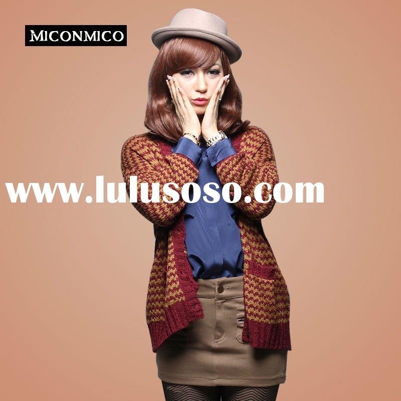 2012 High Fashion ladies' cardigan with long sleeve