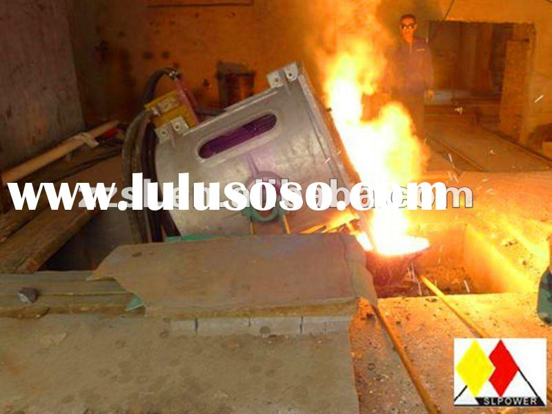 Aluminum/copper/iron/steel induction melting furnace