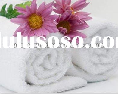 Solid white 100% bamboo fiber hand towel