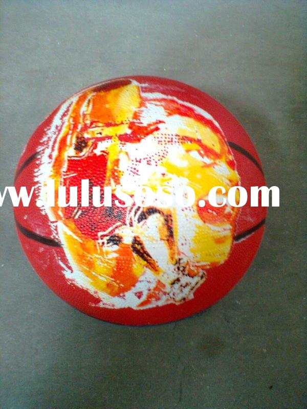 Multi-color rubber basketball,toy rubber ball,