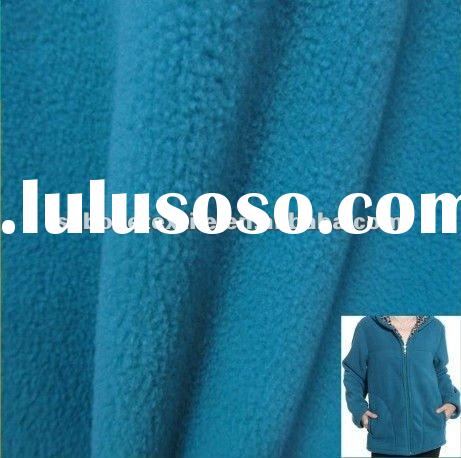 100% polyester DTY 150D/144F solid dyed polar fleece fabric for jacket/one side brushed and one side
