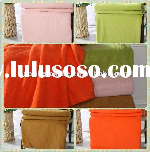 100% polyester dyed anti-pilling micro polar fleece blanket