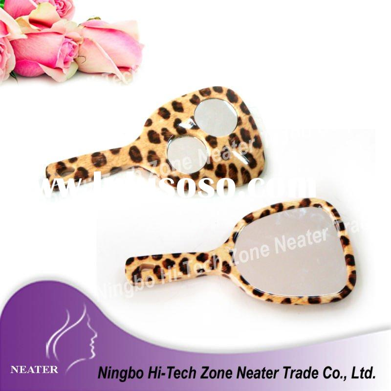 2011 new design plastic tooth shaped hand mirror