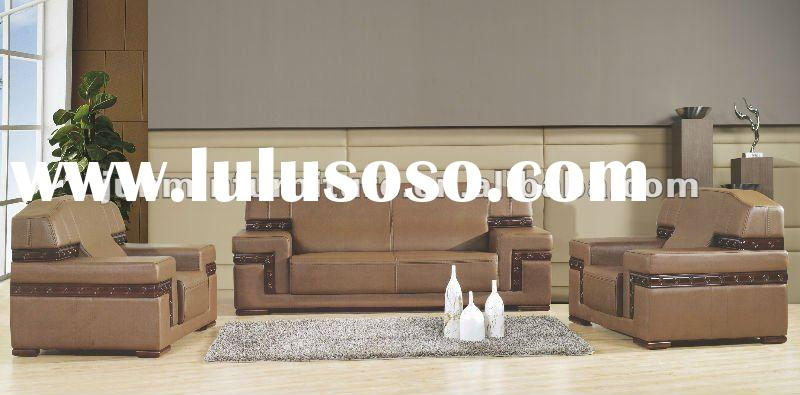 2012 modern office leather sofa set 9036#
