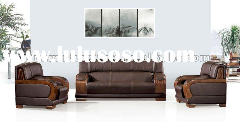 2012 modern office leather sofa set designs 9029#