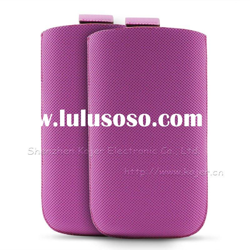 PU Cell Phone Pouch for iPhone 4.Customized Designs and Logos Accepted