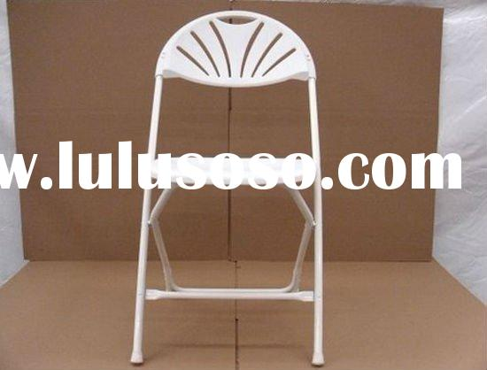 Used White Folding Chairs Metal Hotel Church Christmas Holiday Party Rental