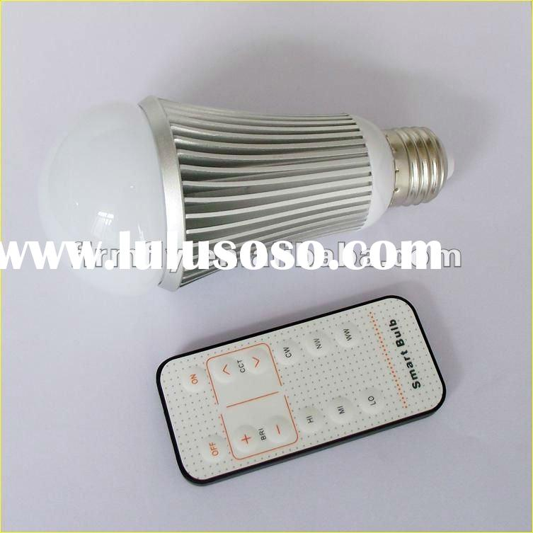 LED bulb with IR remote controller