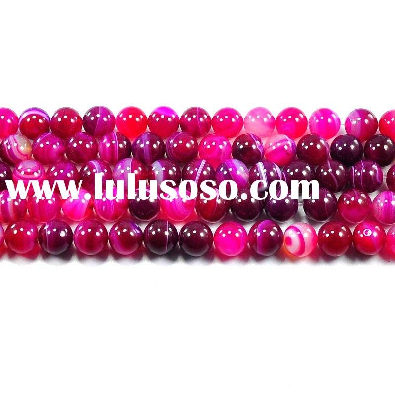 natural fushia agate round beads 12mm, for jewelry accessories