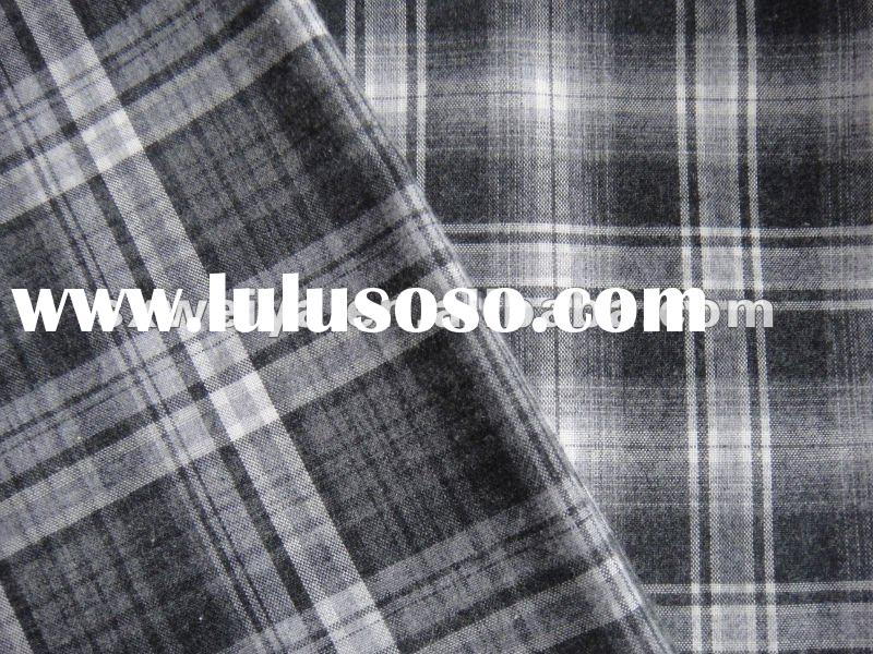 100% cotton yarn dyed fabric with checks