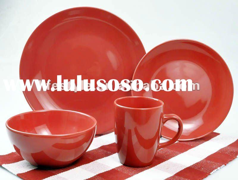 16pcs ceramic dinnerware set with solid color