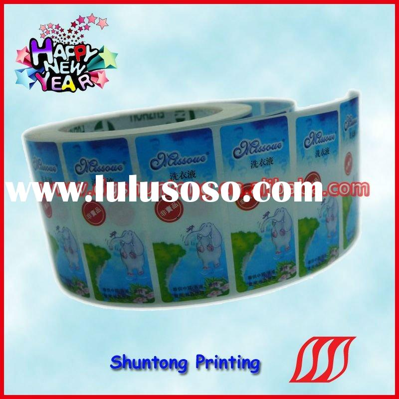 2011-HOT printing self adhesive clear sticker