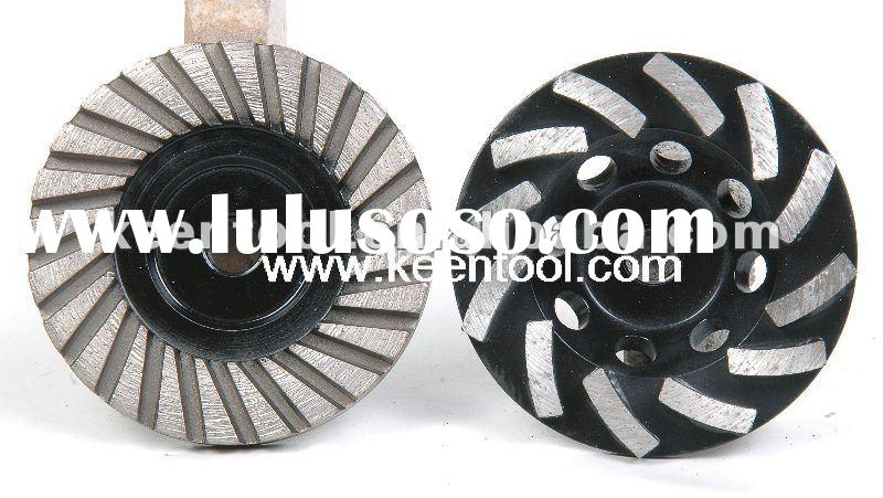 Diamond cup grinding wheels for granite, marble, concrete