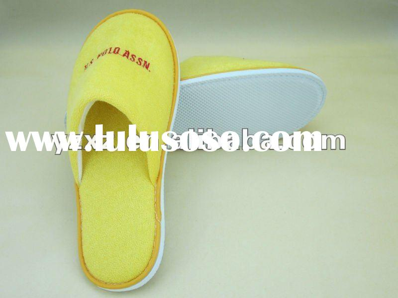hotel ameenities/: 2012 new designed disposable hotel slippers of various colors