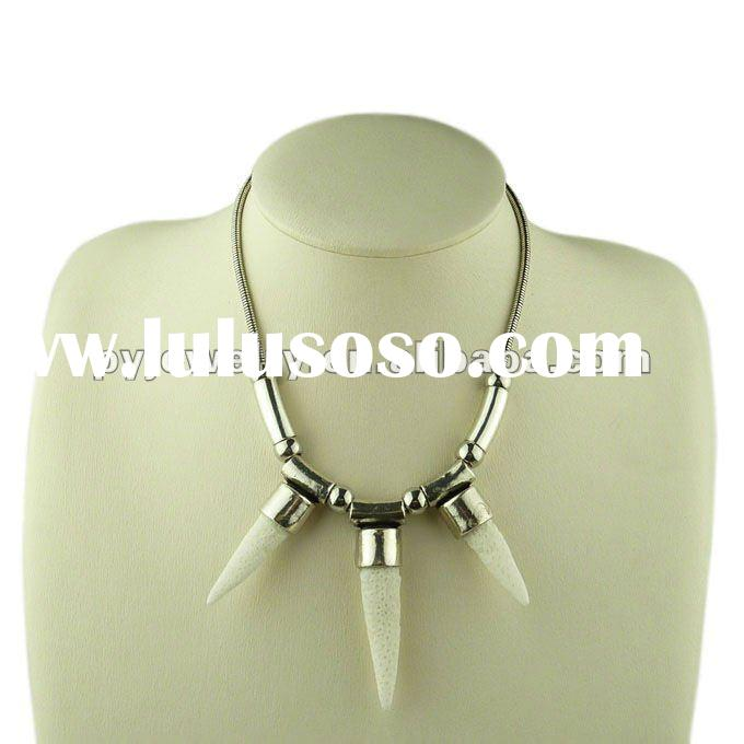 2012 New Design Fashion Bib Necklaces,Silver Plated Stone Jewelry