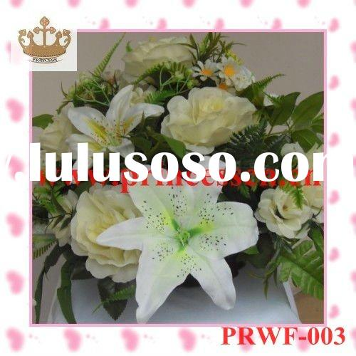 artificial wedding flower of silk flower with 30 flowers