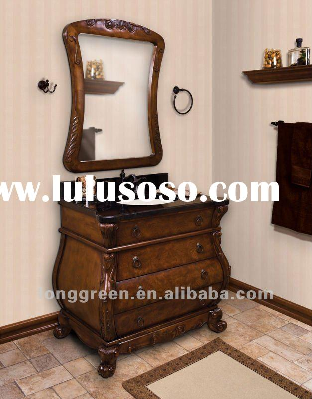 2012 New design Antique American Style Solid Wood bathroom vanity