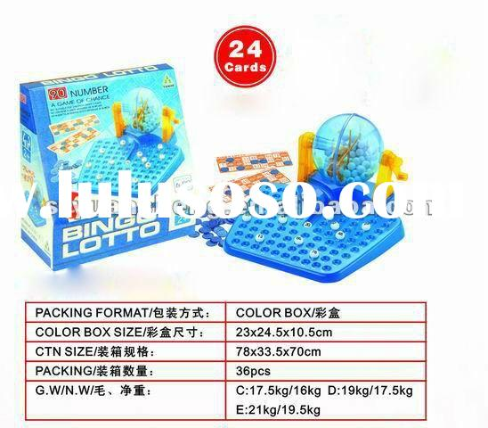 24card transparent winning machine bingo