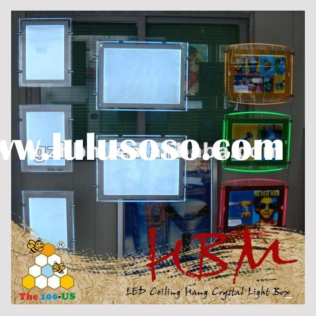 Acrylic ceiling hang photo/picture/poster frame