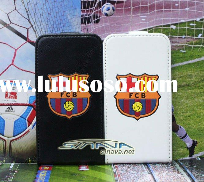 Flip PU leather case for iphone 4 football case