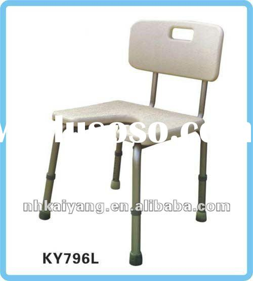 Height adjustable, anti-slip shower commode chair KY796L, light weight