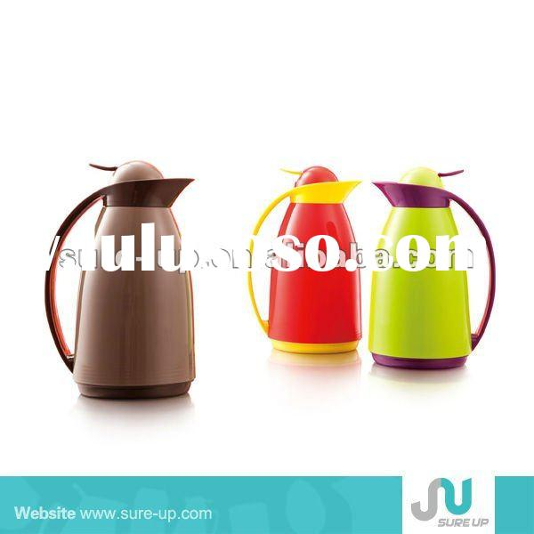 1L vacuum jug with glass liner,1L plastic vacuum jug with glass refill,plastic vacuum jug