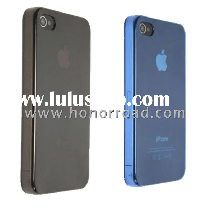 Blue & Black Ultra Thin Crystal Cover Case for the iPhone 4