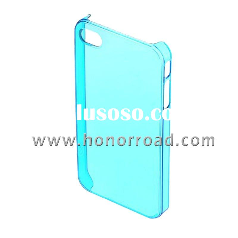 Light BlueUltra Thin Crystal Cover Case for the iPhone 4