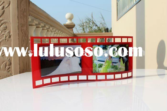 Rectangular Curved New Design Glass Photo Frame