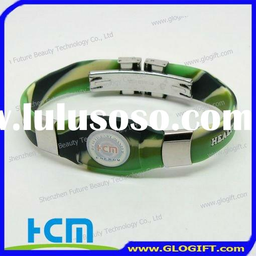 Customized silicone wristband with hologram scalar energy